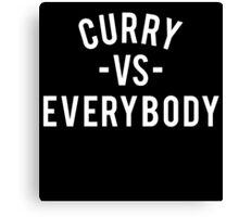 Steph Curry VS Everybody Canvas Print