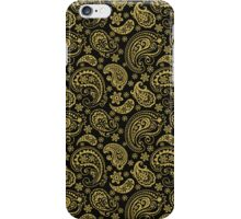 Elegant Gold Tones Vintage Paisley Ornate Pattern Design iPhone Case/Skin
