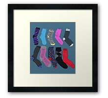 Lost Socks Framed Print