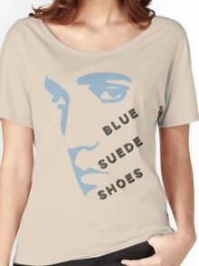 Blue Suede Shoes Elvis silhouette in blue for light garments Women's Relaxed Fit T-Shirt