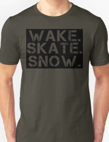 Wake. Skate. Snow. 2 T-Shirt