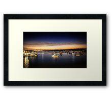 Fishing Boats at night. Framed Print