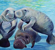 Manatees by Gillian Toft by gilliantoft