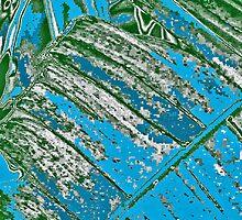 Big Leaf in Black & Blue by noriesworld