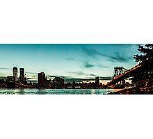 New Yorks skyline at night ice  Photographic Print