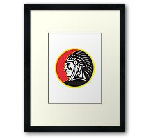 Native American Indian Chief Side Framed Print