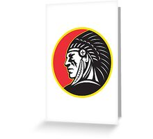 Native American Indian Chief Side Greeting Card