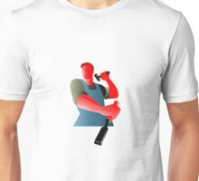 carpenter tradesman worker with chisel and hammer Unisex T-Shirt