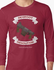 Degroot Demolition (RED) Long Sleeve T-Shirt