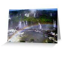 Iguazu Rainbow Greeting Card