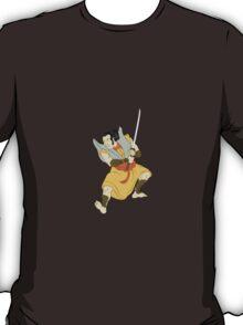 Samurai warrior with katana sword fighting stance T-Shirt