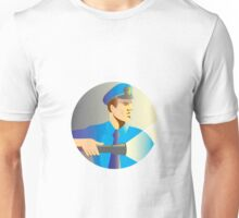 Security guard policeman officer flashlight torch Unisex T-Shirt