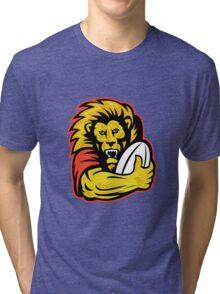 rugby player lion holding ball Tri-blend T-Shirt