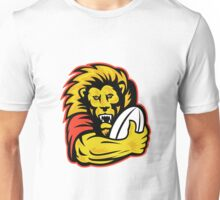 rugby player lion holding ball Unisex T-Shirt