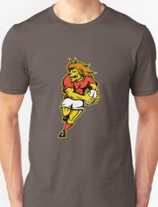 rugby player lion running ball Unisex T-Shirt