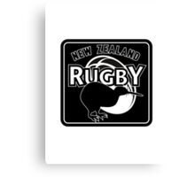 New Zealand rugby logo with kiwi Canvas Print