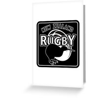 New Zealand rugby logo with kiwi Greeting Card