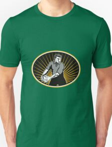 rugby player passing ball Unisex T-Shirt