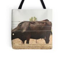 Black Cow and Tires Tote Bag