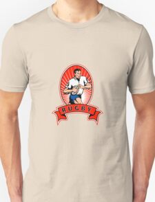 rugby player attacking ball Unisex T-Shirt