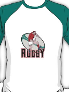 rugby player charging T-Shirt