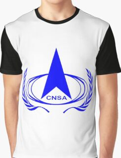 China National Space Administration Logo Graphic T-Shirt