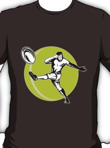 rugby player kicking ball T-Shirt