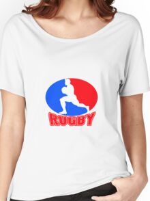 rugby player running ball Women's Relaxed Fit T-Shirt