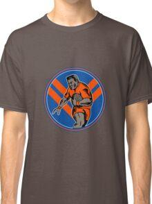 rugby player running ball Classic T-Shirt