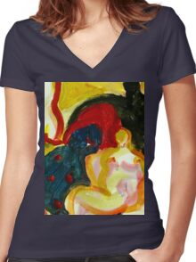 Surfers Women's Fitted V-Neck T-Shirt