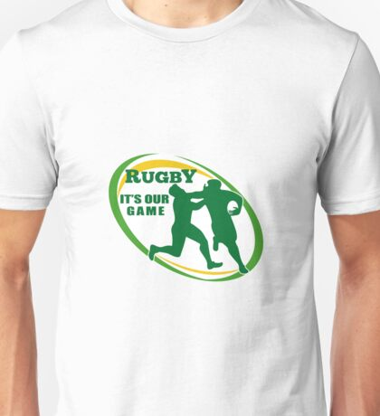 rugby players fending and attacking Unisex T-Shirt