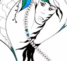 Earth Woman 8 - drawing by Valentina Miletic Sticker
