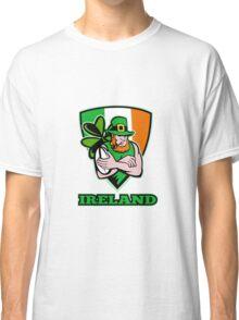 Irish leprechaun rugby player Classic T-Shirt