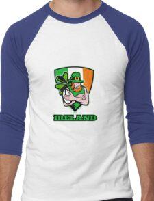 Irish leprechaun rugby player Men's Baseball ¾ T-Shirt