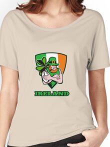 Irish leprechaun rugby player Women's Relaxed Fit T-Shirt