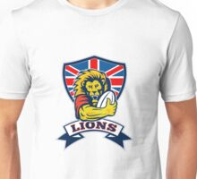 rugby player lion with ball Unisex T-Shirt
