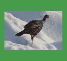 Wild Turkey in the Snow Baby Tee