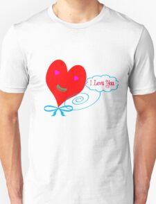 I love you design for happy on gift T-Shirt