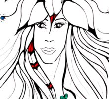 Earth Woman 5 - drawing by Valentina Miletic Sticker