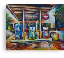 Gas Station Canvas Print