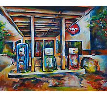 Gas Station Photographic Print