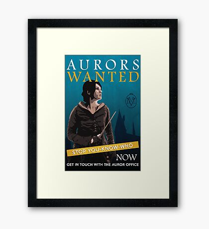 Aurors Wanted Framed Print
