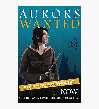Aurors Wanted Photographic Print