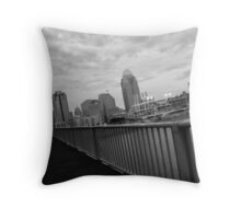 Walking the Roebling Throw Pillow