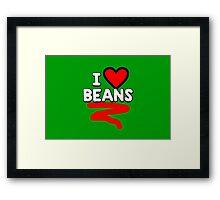 I heart beans Framed Print
