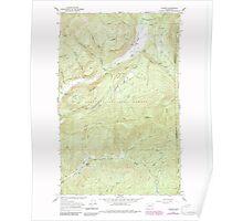 USGS Topo Map Washington State WA Aladdin 239773 1966 24000 Poster