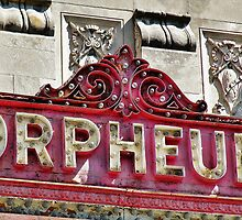 Sign for the Orpheum Theater in Madison, WI by Martha Sherman