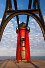 Michigan's South Haven Light through Catwalk Approach by Kenneth Keifer