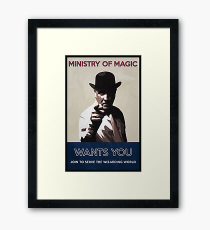 Ministry of Magic Wants You Framed Print