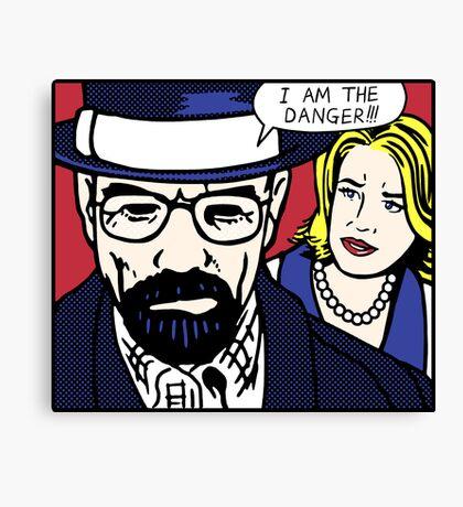 I Am the Danger Lichtenstein Canvas Print